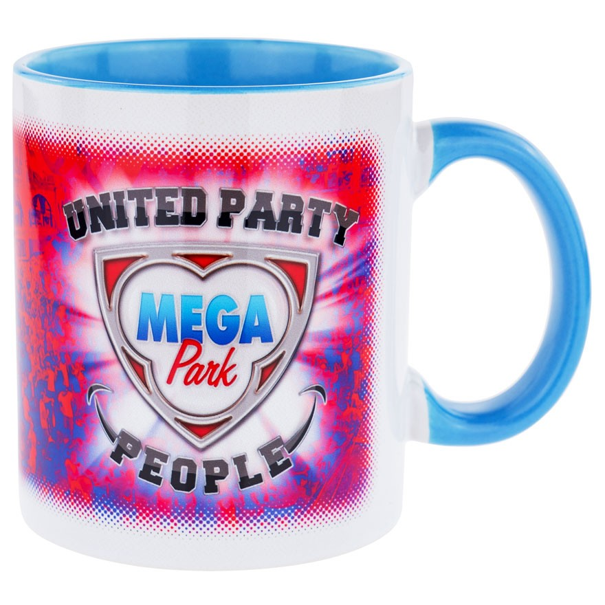 MEGA PARK United Party People Tasse hellblau (Bi-Color)