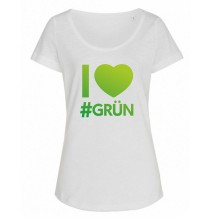 I love #GRÜN oversized GIRLIE T-Shirt